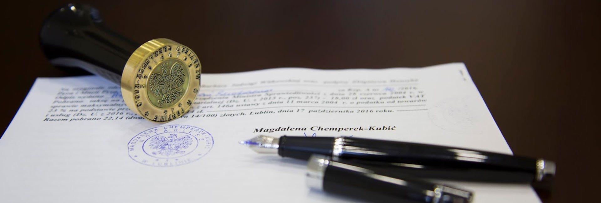 Kancelaria Notarialna - Magdalena Chemperek-Kubić